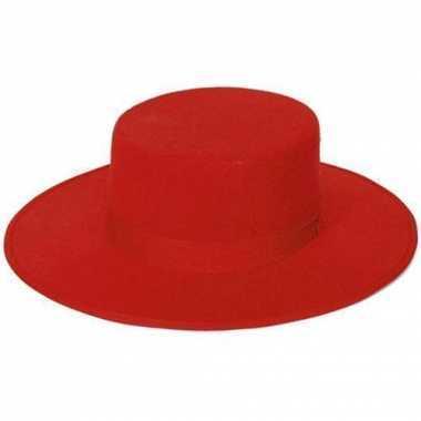 Rode spaanse hoed van vilt