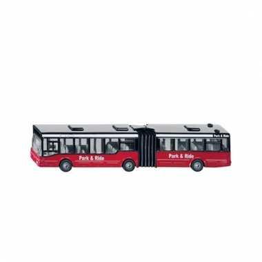 Rode speelgoed bus