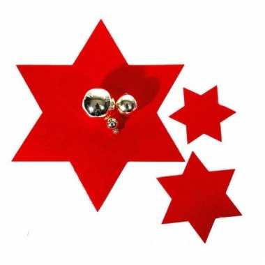 Rode ster onderzetter per stuk