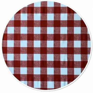 Rode tafelkleden/tafelzeilen ruitjes print 160 cm rond