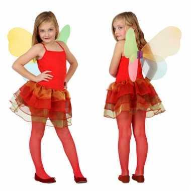 Rode vlinder jurk voor meisjes