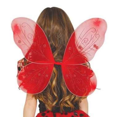 Rode vlindervleugeltjes voor meisjes
