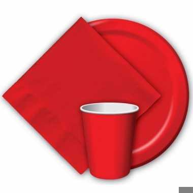 Rode wegwerp bekers 8 stuks