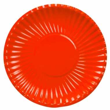 Rode wegwerp borden 29 cm