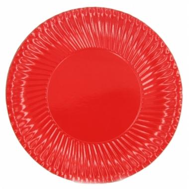 Rode wegwerp bordjes 23 cm