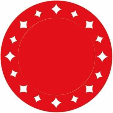 Rode wegwerp placemats 33 cm
