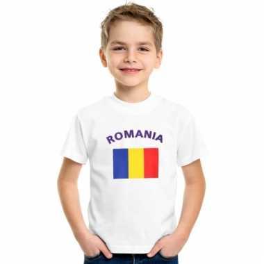 Roemeense vlag t-shirts voor kinderen