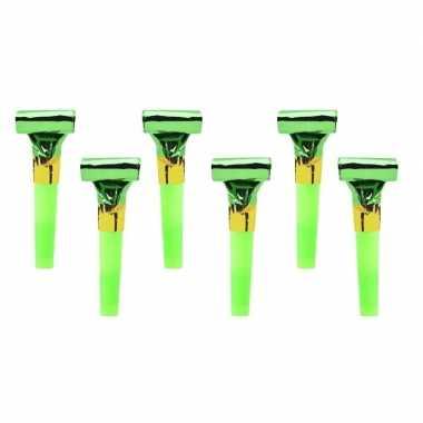 Roltong groen 6 stuks