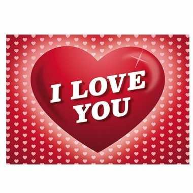 Romantische ansichtkaart / valentijnskaart met hartjes
