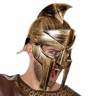 Romeinen helm met vizier voor heren