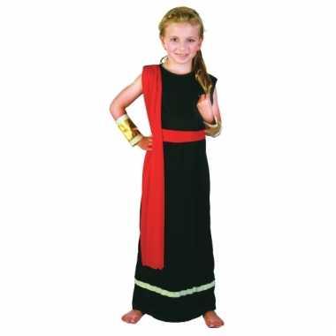 Romeins gewaad zwart rood voor meisjes