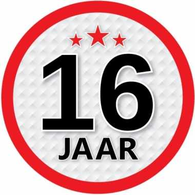 Ronde 16 jaar sticker