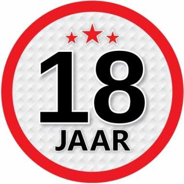 Ronde 18 jaar sticker