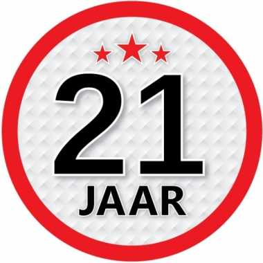 Ronde 21 jaar sticker