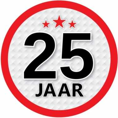 Ronde 25 jaar sticker