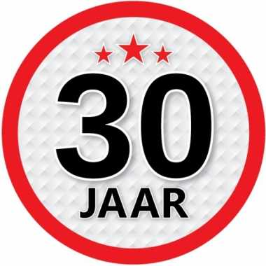 Ronde 30 jaar sticker
