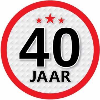 Ronde 40 jaar sticker