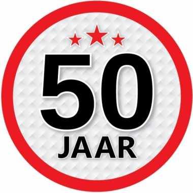 Ronde 50 jaar sticker