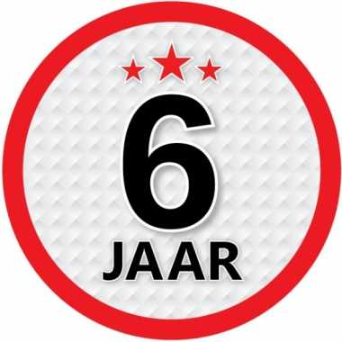 Ronde 6 jaar sticker