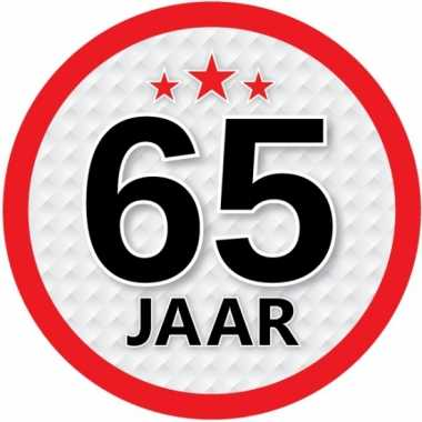 Ronde 65 jaar sticker