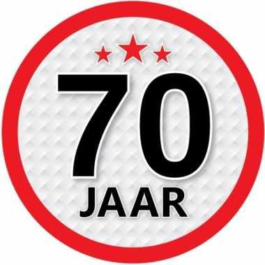 Ronde 70 jaar sticker