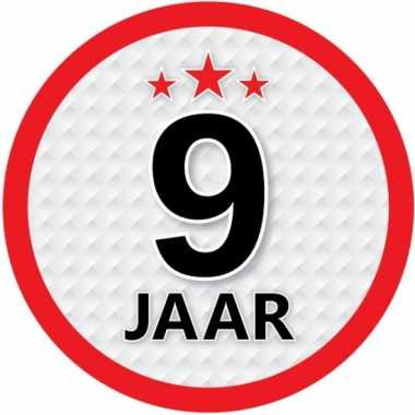 Ronde 9 jaar sticker