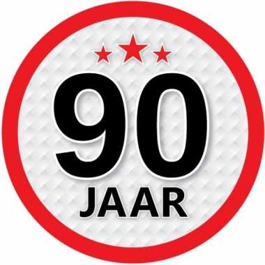Ronde 90 jaar sticker