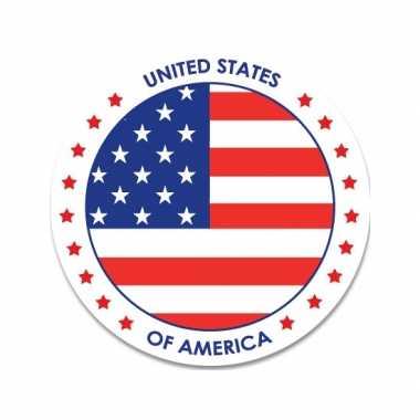 Ronde amerika sticker