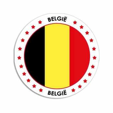 Ronde belgie sticker
