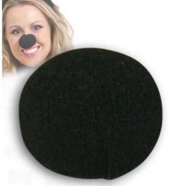 Ronde foam neuzen zwart