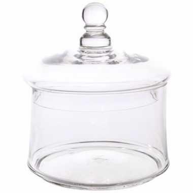 Ronde glazen pot met deksel 13 x 12 cm