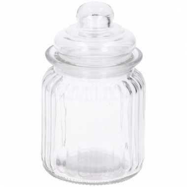 Ronde glazen pot met deksel 8 x 12 cm
