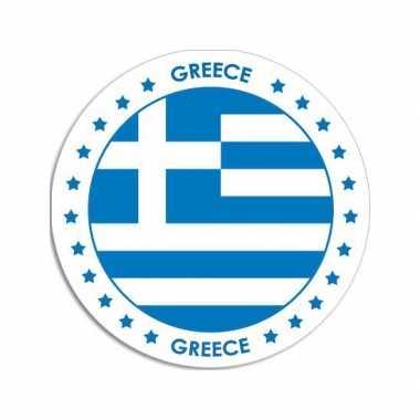 Ronde griekenland sticker
