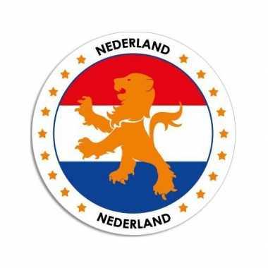 Ronde nederland sticker