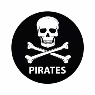 Ronde sticker pirates