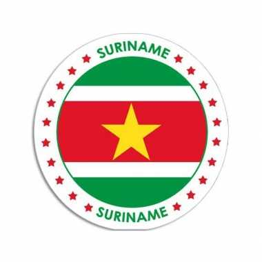 Ronde suriname sticker