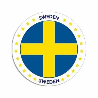 Ronde zweden sticker