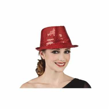 Rood al capone hoedje