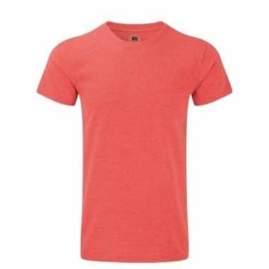 Rood basic shirt met ronde hals voor heren