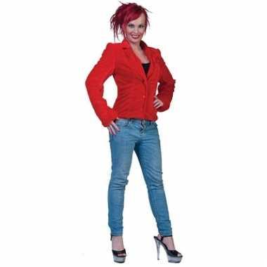 Rood bontjasje voor dames