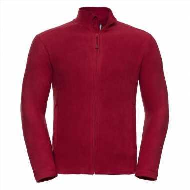 Rood fleece vest met ritsluiting