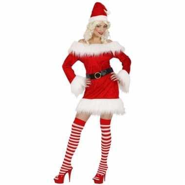 Rood fluwelen kerstpakje voor dames
