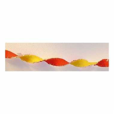 Rood / gele versiering slinger 30 meter
