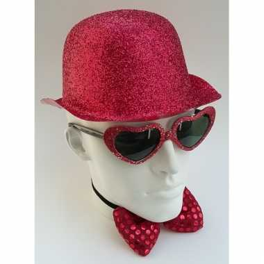 Rood glitter bolhoedje