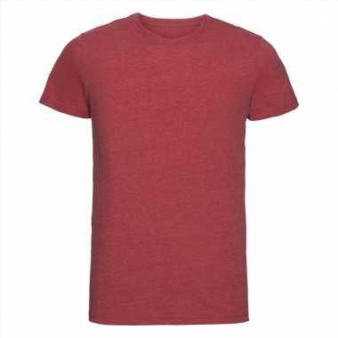 Rood heren t-shirts met ronde hals