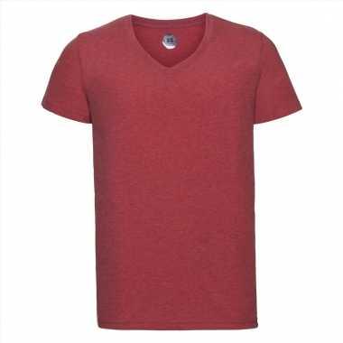 Rood heren t-shirts met v-hals