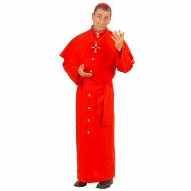 Rood kardinaal kostuum voor mannen
