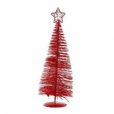 Rood kerstboompje 21 cm
