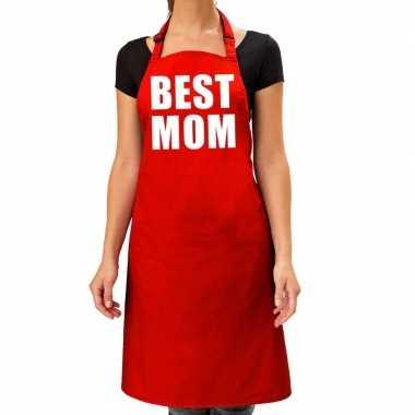 Rood keukenschort best mom voor dames