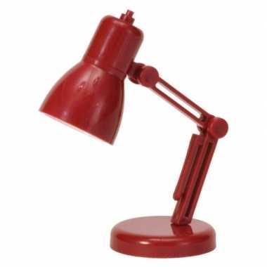 Rood lees lampje op batterijen 9 cm